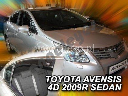 Deflektory na okná pre Toyota Avensis 3 (T27) sedan, 2ks