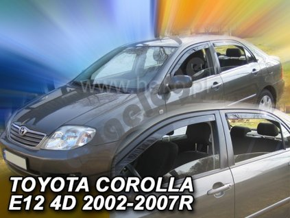 Deflektory na okná pre Toyota Corolla E12, 4ks