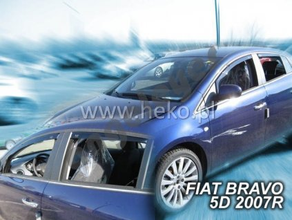 Deflektory na okná pre Fiat Bravo, 4ks