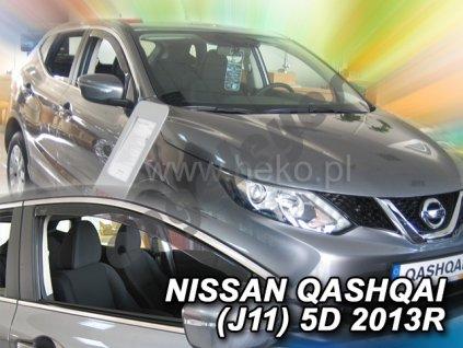 Deflektory na okná pre Nissan Qashqai J11, 4ks