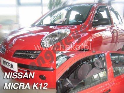 Deflektory na okná pre Nissan Micra K12, 4ks