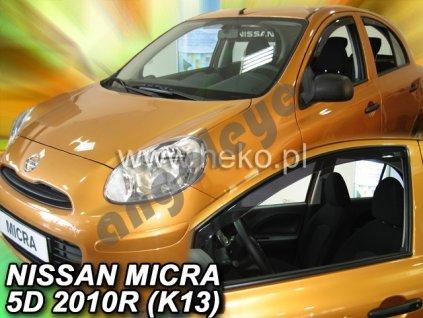 Deflektory na okná pre Nissan Micra K13, 2ks