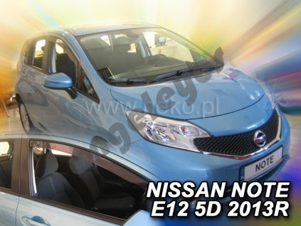 Deflektory na okná pre Nissan Note E12, 4ks