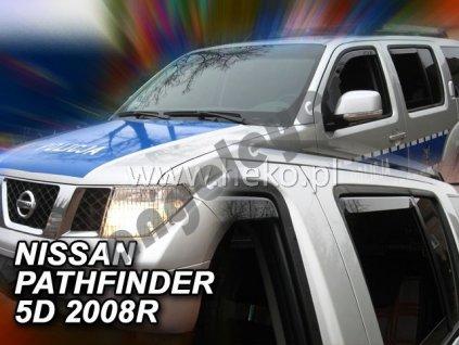 Deflektory na okná pre Nissan Pathfinder R51, 4ks