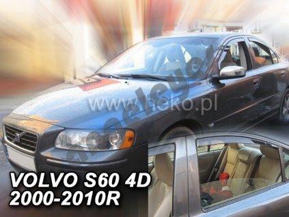 Deflektory na okná pre Volvo S60 rv. 00-10, 4ks