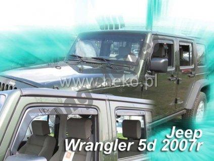 Deflektory na okná pre Jeep Wrangler, 4ks