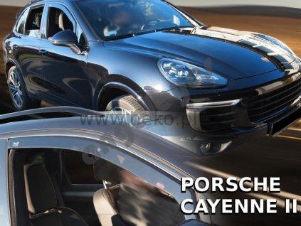 Deflektory na okná pre Porsche Cayenne II, 2ks