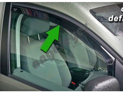 Deflektory na okná pre Mitsubishi Lancer, 2ks