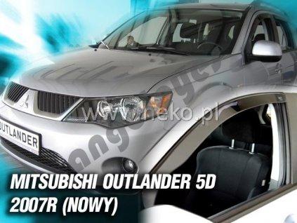 Deflektory na okná pre Mitsubishi Outlander II, 4ks