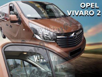 Deflektory na okná pre Opel Vivaro II, 2ks