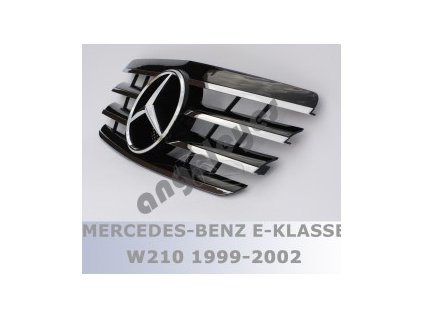 Mercedes E W210 predná maska AMG čierna s chrómom