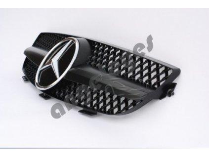 Mercedes CLK W209 predná maska AMG, matná čierna