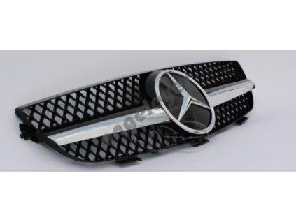 Mercedes CLK W209 predná maska AMG, čierna s chrómom
