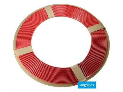 Červená lišta 15m dĺžka, 0,4cm šírka