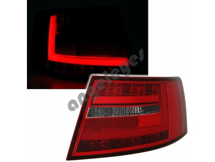 Audi A6 4F 04-08 zadné LED svetlá červeno-biele 6-pin