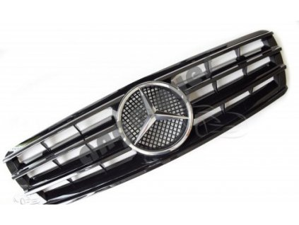Mercedes C W203 predná maska AMG, čierna lesklá