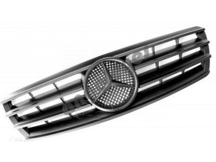Mercedes C W203 predná maska AMG, čierna matná