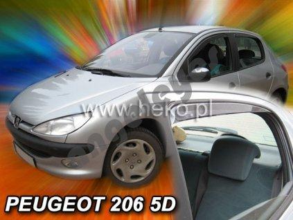 Deflektory na okná pre Peugeot 206, 4ks