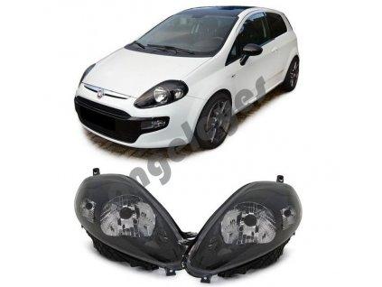 Predné svetlá čierne pre Fiat Punto Evo, rv. 09-11