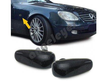 Mercedes Benz bočné smerovky čierne zatmavené