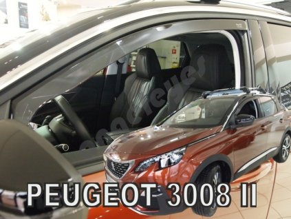 Deflektory na okná pre Peugeot 3008, 2ks