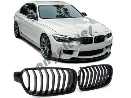 BMW 3 F30/F31 predná čierna lesklá maska štýl M3