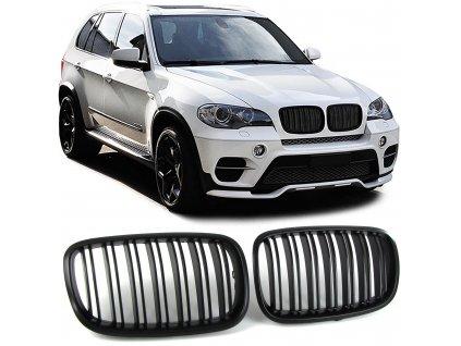 BMW X5 E70, X6 E71 športová čierna matná maska s dvojitými...