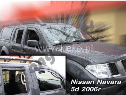Deflektory na okná pre Nissan Navara, rv. 2005-2015, 2ks