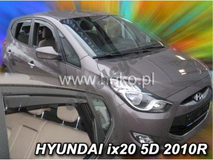 Deflektory na okná pre Hyundai ix20 5D rv. 2010-, 4ks