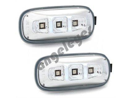 Bočné LED smerovky pre Audi A3 8P, A4 8E, A6 4F chróm