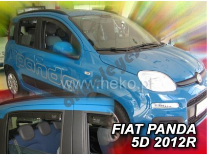 Deflektory na okná Fiat Panda, 4ks