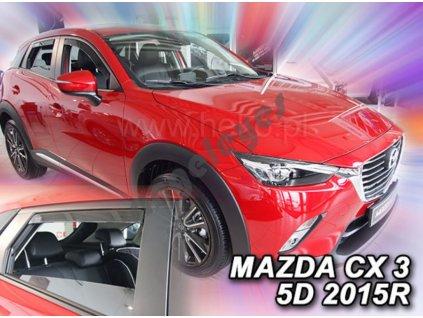 Deflektory na okná pre Mazda CX-3, 4ks
