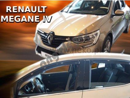 Deflektory na okná pre Renault Megane 4, 4ks
