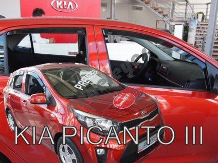 Deflektory na okná pre Kia Picanto 3, 4ks