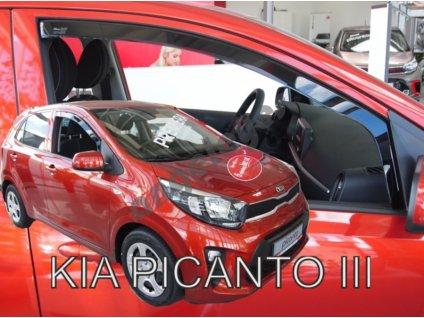 Deflektory na okná pre Kia Picanto 3, 2ks