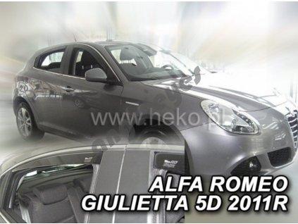 Deflektory na okná pre Alfa Romeo Giulietta , 4ks