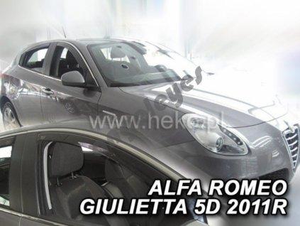 Deflektory na okná pre Alfa Romeo Giulietta , 2ks