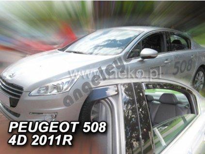 Deflektory na okná pre Peugeot 508 sedan , 4ks