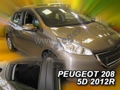Deflektory na okná pre Peugeot 208 , 4ks