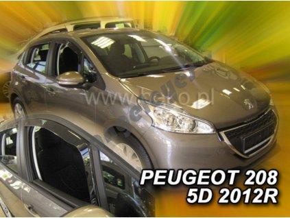 Deflektory na okná pre Peugeot 208 , 2ks