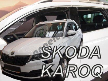 Deflektory na okná pre Škoda Karoq , 4ks