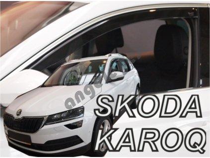 Deflektory na okná pre Škoda Karoq , 2ks