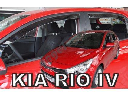 Deflektory na okná pre Kia Rio 4 , 4ks