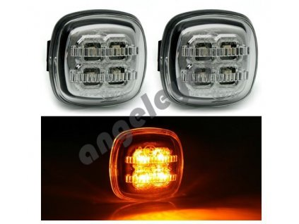 Bočné LED smerovky zatmavené
