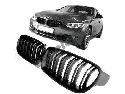 BMW 3 F30/F31 predná čierna matná maska štýl M3