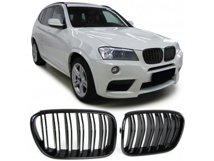 BMW X3 F25 rv.2010-2014 športová čierna lesklá maska s...