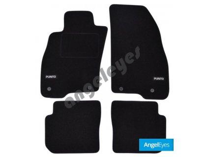 Čierne koberce pre Fiat Punto 3, od rv. 2012-
