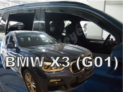 Deflektory na okná pre BMW X3 G01, 4ks
