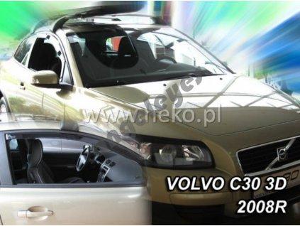 Deflektory na okná pre Volvo C30, 2ks