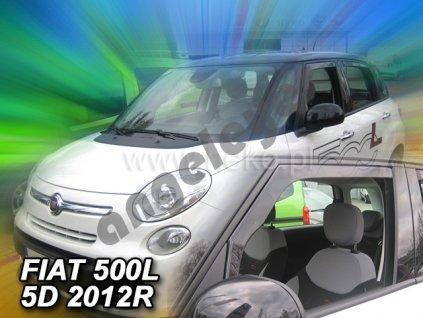 Deflektory na okná pre Fiat 500L 5D, 2ks, rv. 2012-